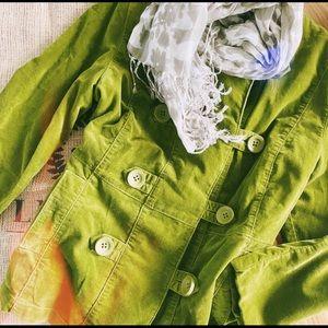 Green Velvet Peacoat